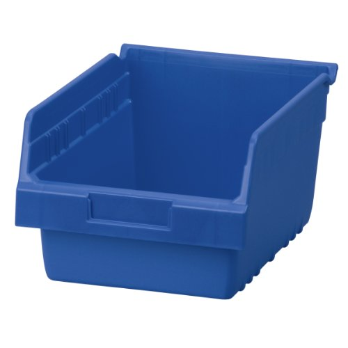 Akro-Mils 30080 ShelfMax Plastic Nesting Shelf Bin Box, 12-Inch L by 8-Inch W by 6-Inch H, Blue, Case of 8