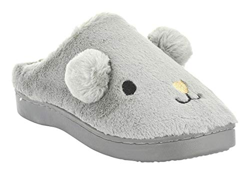 bb0ccb0c720 Seranoma Women s Coral Fleece Animal Indoor House Slipper Scuff Anti-Slip  Rubber Sole