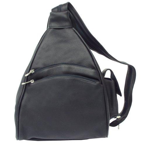 Piel Leather Two-Pocket Sling, Black, One Size