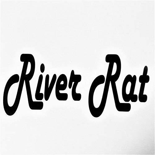 Chase Grace Studio River Rat Rivers Vinyl Decal Sticker|Black|Cars Trucks SUVs Vans Canoes Kayaks Laptops Walls Glass Metal|6.5