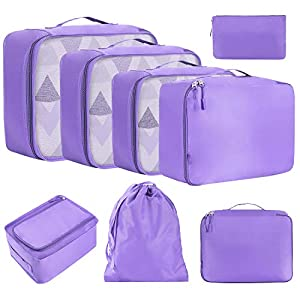 4 Set Packing Cubes Travel Luggage Packing Organizers Magic Dream Unicorn