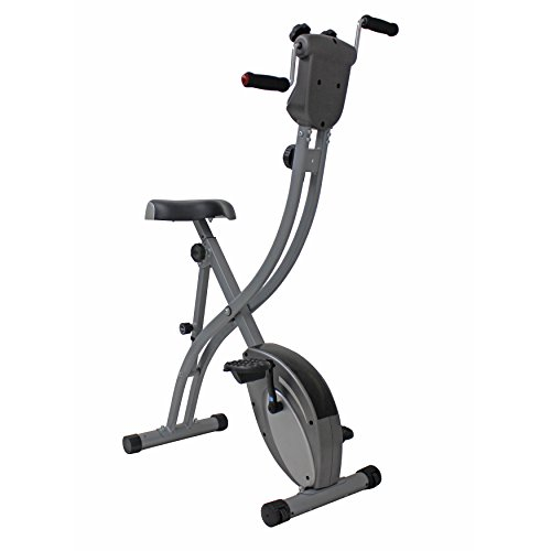Folding-Upright-Exercise-Bike-with-Arm-Exerciser-by-Sunny-Health-Fitness-SF-B1412H
