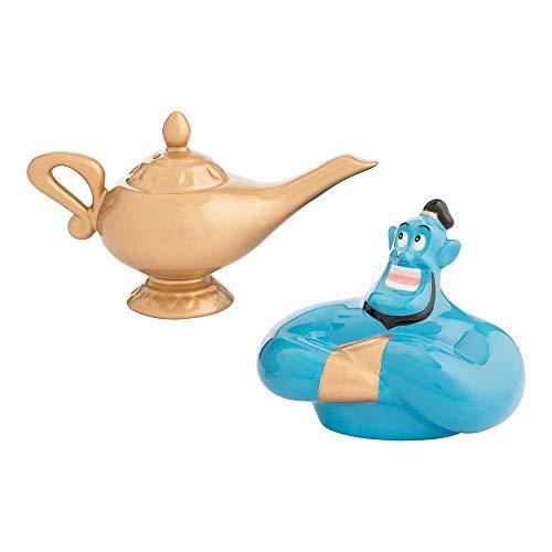 (Vandor Disney Aladdin Genie & Lamp Sculpted Ceramic Salt & Pepper Set)