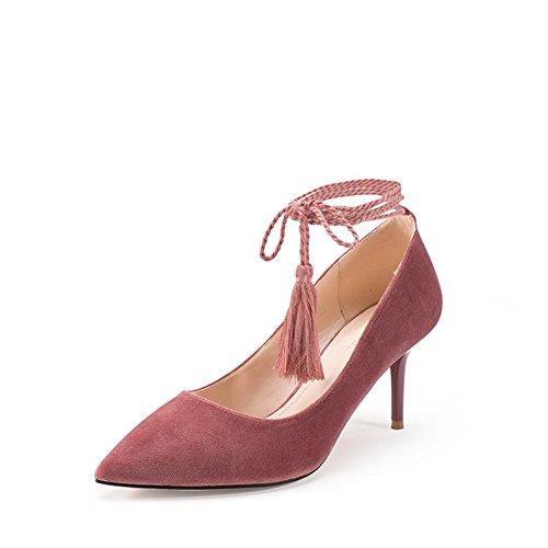 Fashion Cross Elegante Schuhe Casual Dünne Heel Schuhe-a Spitze Fußlänge Und 6inch Strap high feine 3cm 24 Herbst 9