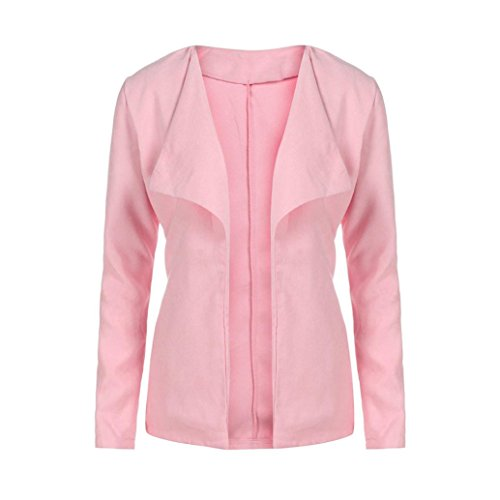 Cashmere Puff Sleeve Top (Women Tops Blouse Among Fashion Puff Sleeve Shirt O-Neck Patchwork Sweatshirt Cashmere Long Sleeve Knitted Pullovers (S, Pink))
