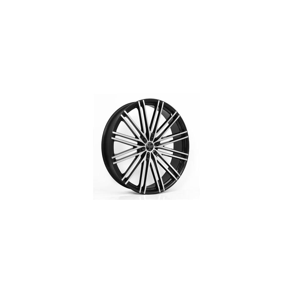 22 Wheels Rims Versante Ve227 22x9 Black Machined Face 6 Lug 6x135 6x139.7