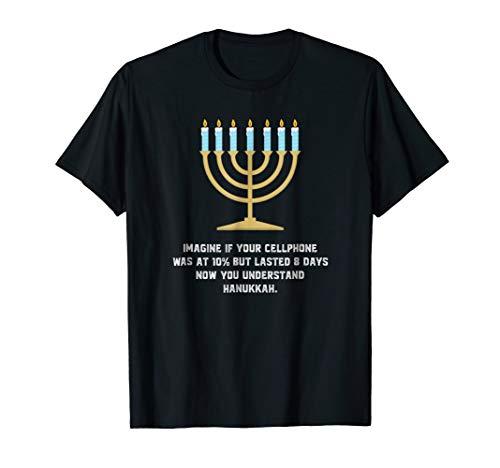 Phone T-shirt (Sarcastic Hanukkah Chanukah Cellphone Funny T Shirt)