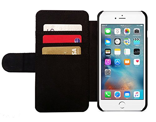 Leder Flip Case Tasche Hülle für Apple iPhone 6/6S - Australien Grunge-Flagge by Warp9
