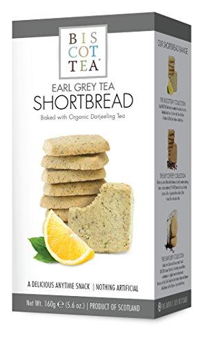 BISCOTTEA Earl Grey Tea Shortbread Cookies (8 Cookies)