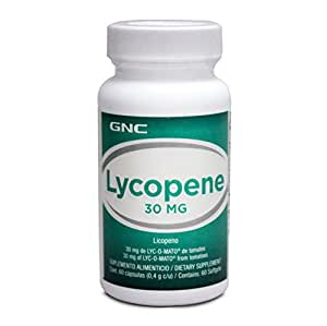 GNC Preventive Nutrition Lyc-O-Mato Lycopene From Tomatoes 60 Soft Gel Capsules