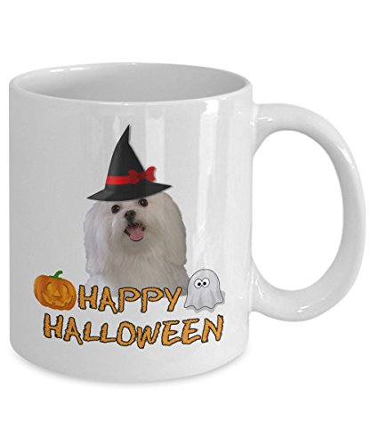 Maltese Dogs Halloween Coffee Mugs or Tea Cup For Maltese Dogs Lovers and Friends
