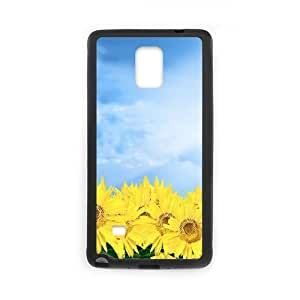 Sunflower Samsung Galaxy Note 4 Cell Phone Case Black T4526996