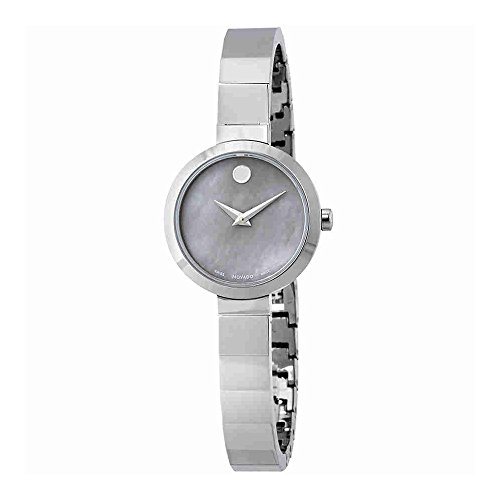 Movado Novella MOP Dial Stainless Steel Ladies Watch 0607110