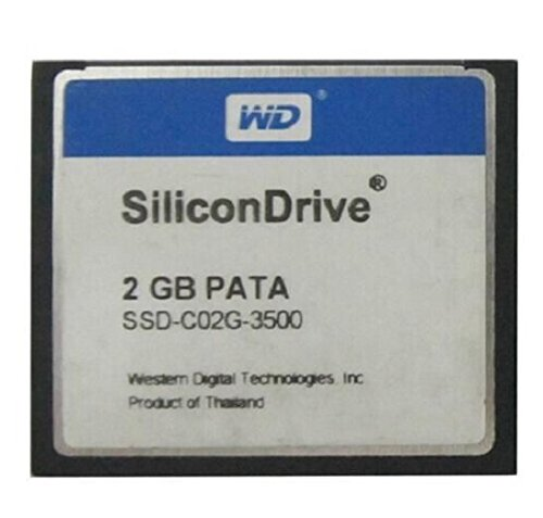 Zhigao Silicondrive 2GB PATA CF Industrial Temp WD CompactFlash (6mb Flash Memory Card)