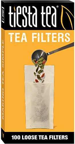 Tiesta Tea Loose Leaf Tea Filters, 100 Count, Disposable Tea Infuser for 100 Cups of Tea