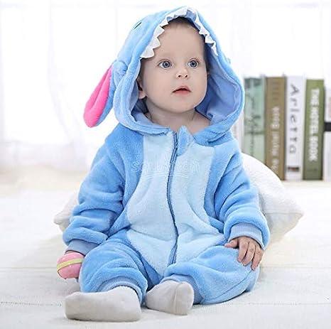 Einhorn Pyjama Jumpsuit Stich Kigurumi-Baby-M/ädchen Kawaii Onesies 0-3T Kinder Zipper Pyjama Baby Kleidung Karikatur-Spielanzug Winterschlaf Anzug Outfit Size : 3T