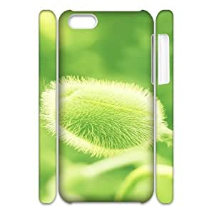 3D Flower 386 IPhone 5C Case, Shock Absorbent Case Case for Iphone 5c for Boys Okaycosama {White}
