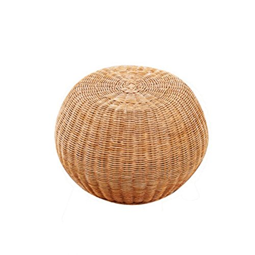 FORWIN US stool- Stool Round Rattan Drum Chair Shoe Bench Wooden Shoes Stool Adult Seat Tea Stool Small Sofa Foot Makeup Stool Without Backrest 30 X 30 X 33 CM stool (Size : 303033) by StoolStool (Image #2)