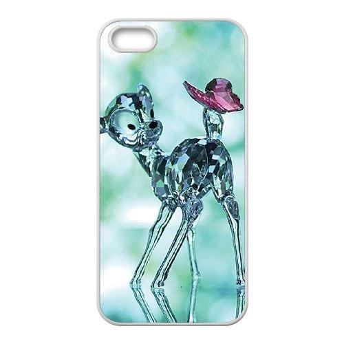 Bambi coque iPhone 5 5S Housse Blanc téléphone portable couverture de cas coque EBDOBCKCO10400