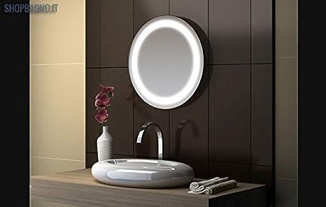 Specchio da bagno rotondo illuminazione integrata iml amazon
