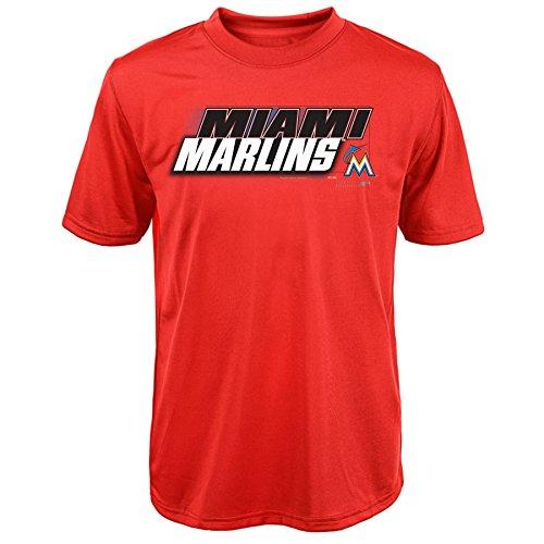 MLB Miami Marlins Youth Boys 820 Kinetic Team & City Tee, Medium(10-12), Warm Red – DiZiSports Store