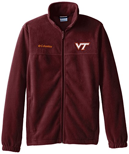 Virginia Tech Fleece (NCAA Virginia Tech Hokies Collegiate Flanker II Full Zip Fleece Jacket, Maroon, Large)