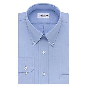Van Heusen Men's Dress Shirt Regular Fit Oxford Solid