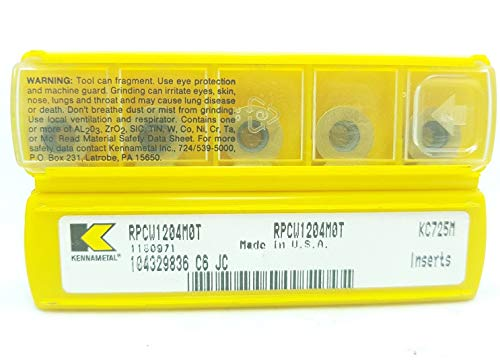 Kennametal RPCW 1204M0T Hartmetall-Einsätze KC725M #SK1, 5 Stück