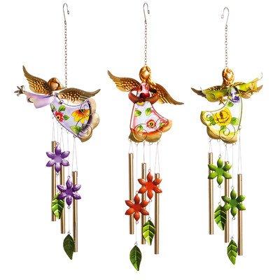 Angels Art Glass - 3 Piece Sounds of Celebration Angel Windchime Set