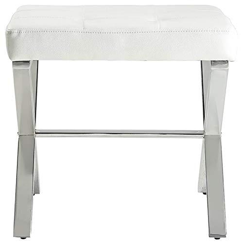 Carolina Classic Elisabetta Vanity Bench White Chrome