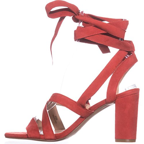 Strappy Toe Spring Open Red Sandals Kailey INC International Casual Womens Suede Concepts O488wSq