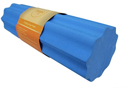 Maji Sports Tri-Ribbed Foam Roller Blue, Blue