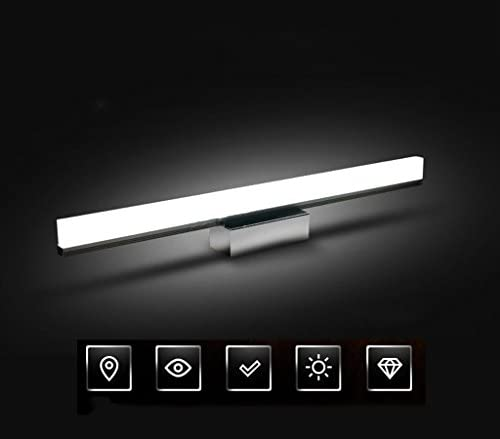 . Badezimmer-Spiegel-Lichter, LED-wasserdichte Nebel-Badezimmer-Toiletten-Wand-Wannen-Waschbecken-Kabinett-Lampen (Color : Silver)