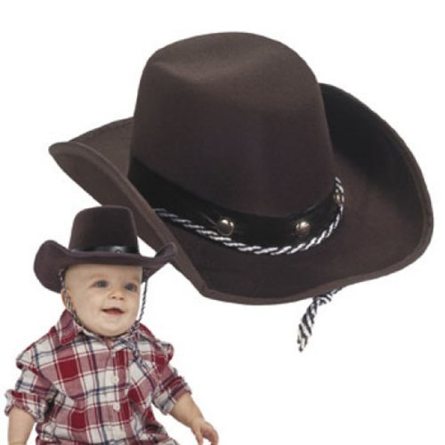 Fun Express Baby Sized Cowboy Western Rodeo Hat, OSFA -
