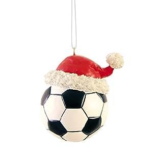 Soccer Ball Santa Ornament