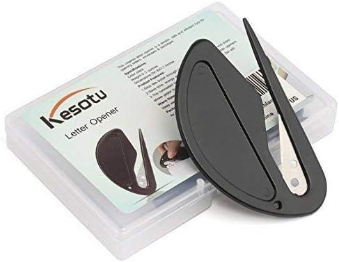 Kesote 레터 오프너 봉투 패 케 지 스 리터 종이 칼 날 사무 용품 가재도구 블랙 4 개 들이 / Kesote Letter Opener Envelope Package Slitter Paper Knife Blade Office Supplies Household Goods Black 4pcs