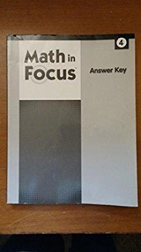 Math In Focus: Calvert Answer Key Grade 4 (Houghton Mifflin Math Grade 4 Answer Key)