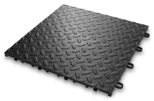 Gladiator GAFT24TTTB Black Floor Tile, 24-Pack