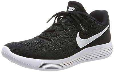 Nike Women's Lunarepic Low Flyknit 2 Running Shoe (8.5, Black/White/Anthracite)