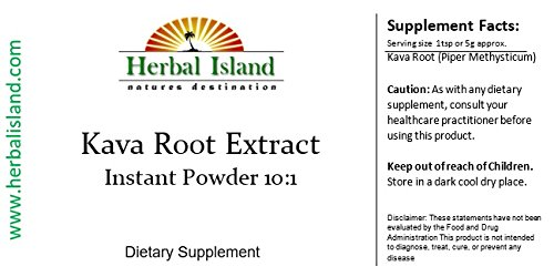 Kava Kava Root Instant Extract Powder 1 Lb Fiji Grown - Free Shipping