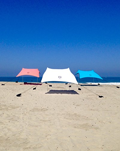 Neso Tents Beach Tent with Sand Anchor, Portable Canopy Sun Shelter, 7 x 7 image