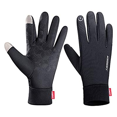 Lanyi Winter Warm Gloves Touchscreen Windproof Waterproof Anti-Slip Thermal Liner Gloves Outdoor Cycling Driving Men Women