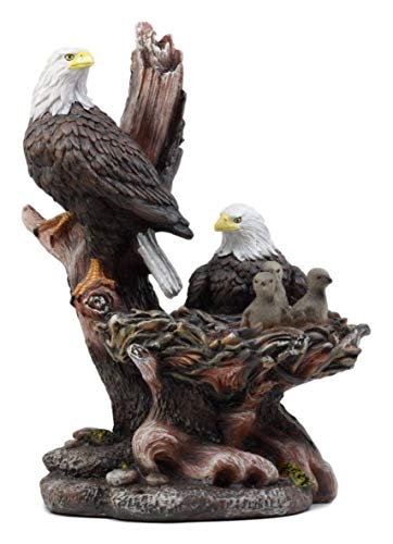 - ShopForAllYou Figurines and Statues Patriotic American Bald Eagle Family Statue in Rustic Home Decor Sculptures 12