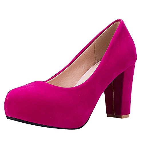 Donna col Tacco Comfort Scarpe Rose Multicolore Red MissSaSa Bdq67wB