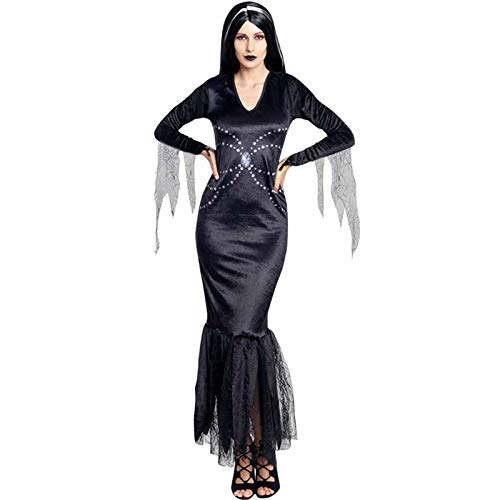 Disfraz Lady Morticia Mujer (Talla S) Halloween: Amazon.es ...