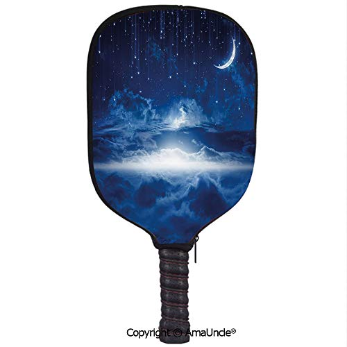 SCOXIXI Customized Racket Cover, Stylish Heavenly Majestic Galaxy View Falling Stars Celestial Magical Cosmos DecorativeRacket Cover,Protect Your Pickleball Paddles