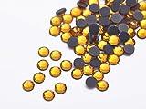 Gold Yellow SS30-6MM-16Facets-100Pcs SS10 SS16 SS20 SS30 SS40 Hotfix Rhinestones Iron-on Flatback Crystal Glass DMC