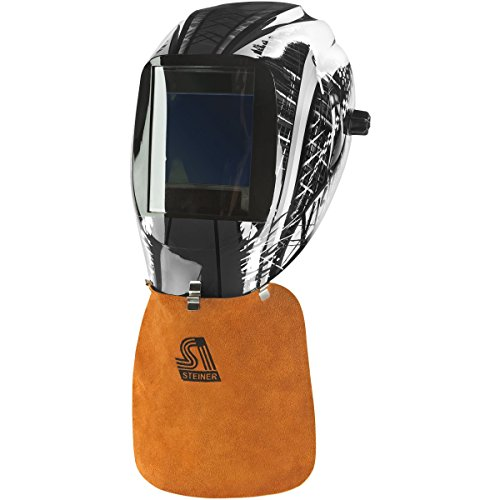 - Steiner 12108 Side Split Cowhide Welding Helmet Bib with Metal Clip Attachment