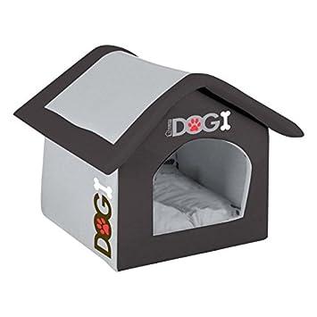 Casita/cesta para perros, espuma, flexible, lavable, 42 x 35 x 40 cm, color negro: Amazon.es: Juguetes y juegos