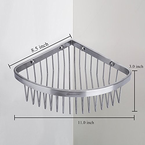 Beautiful durable service HOMEIDEAS Shower Caddy Corner Shower Shelf Stainless Steel Shower Basket Bathroom Shower Organizer Rustproof Model - Popular wall mounted shower caddy Unique